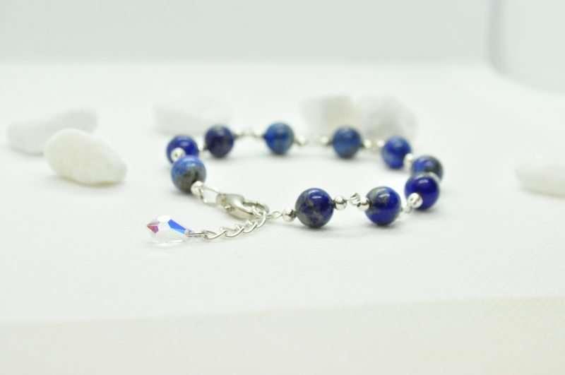 Numerolody - Bransoletka z lapisu lazuli i srebra
